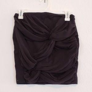 NWOT EXPRESS Unique Criss Cross Detail Mini Skirt